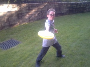 Grandson, Ryan...Tossing a little frisbee around at Glennwood Springs!