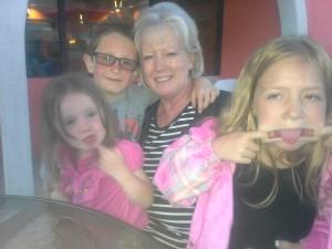 Grammie & Ryan, Chelsea, Makayla... Celebrating the joy of 'silly-ness!'
